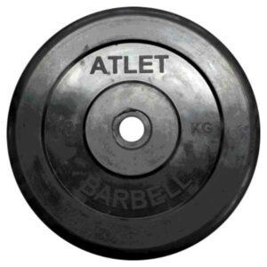 Диск обрезиненный BARBELL ATLET 10 кг