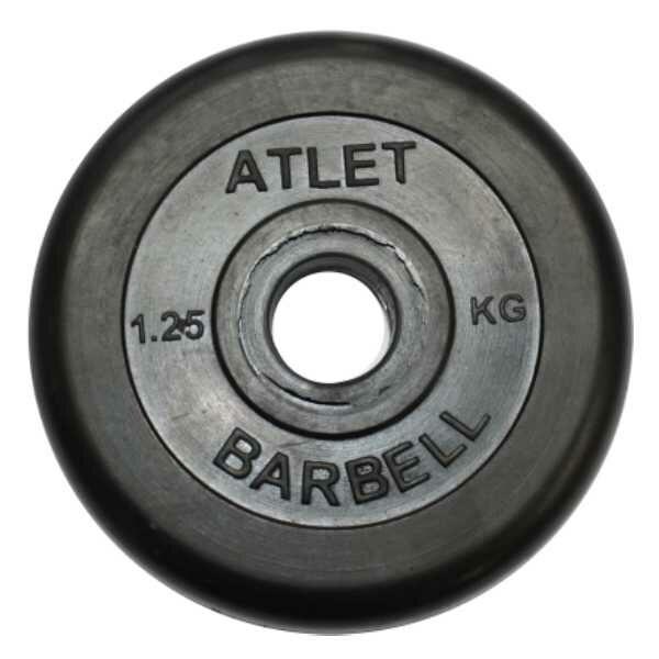 Диск обрезиненный BARBELL ATLET 1,25 кг_1