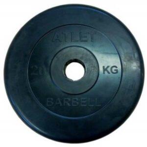 Диск обрезиненный BARBELL ATLET 20 кг