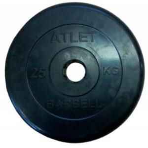 Диск обрезиненный BARBELL ATLET 25 кг