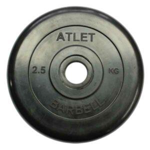 Диск обрезиненный BARBELL ATLET 2,5 кг
